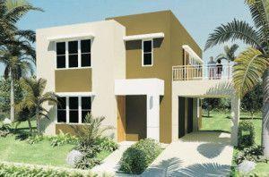 colorfachadas de casas de dos pisos