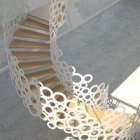 diseño de baranda para escalera
