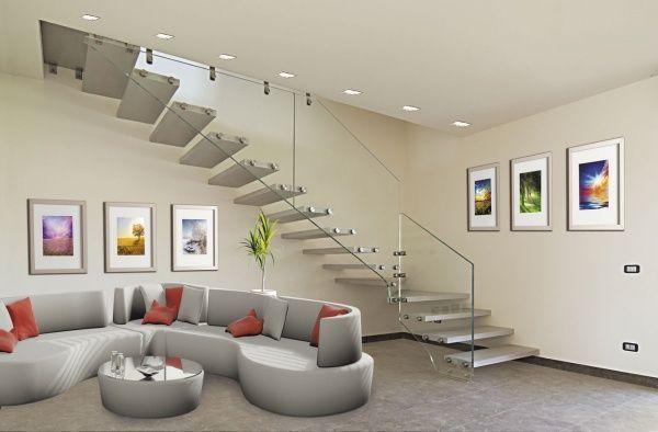 Dise o de escalera moderna casa web for Escaleras en salas