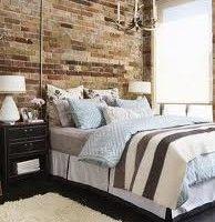 dormitorio marron y celeste moderno