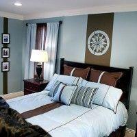 dormitorio matrimonial azul celeste chocolate