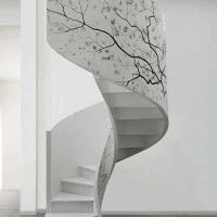 escalera caracol de diseño moderno