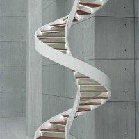 escalera caracol minimalista
