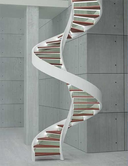 Escalera caracol minimalista casa web for Escaleras de caracol
