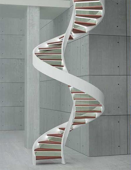 escalera caracol minimalista casa web