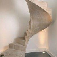 escalera cemento alisado
