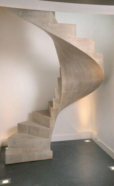 Escalera cemento alisado casa web for Como trazar una escalera de caracol de concreto