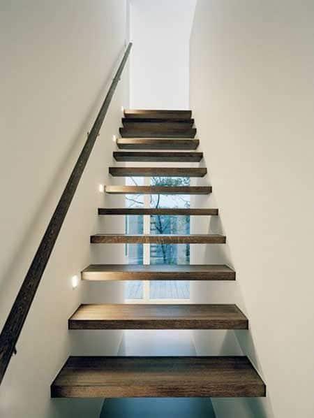 Escaleras de madera modernas casa web for Imagenes escaleras modernas