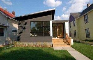 fachada casa moderna pequeña