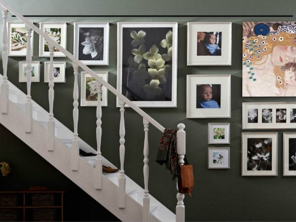 Ideas para decorar la pared de la escalera casa web for Decoracion de paredes con cuadros grandes