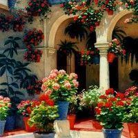patio interno mediterraneo