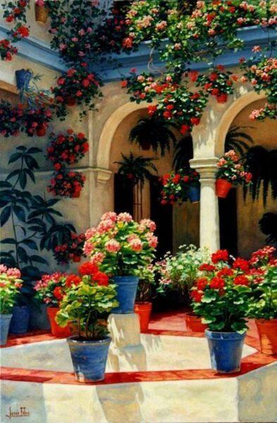 Patio interno mediterraneo casa web for Como decorar un patio interno