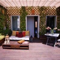 patio interno piso de madera