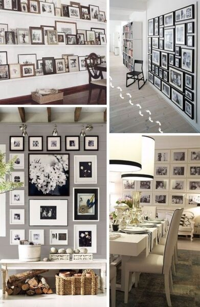 Decorar una pared con fotos casa web - Ideas para decorar paredes con fotos ...
