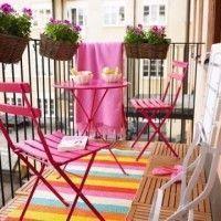 un balcon colorido