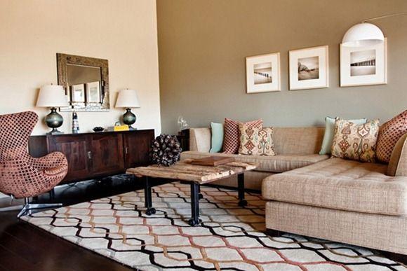 alfombra beig para living