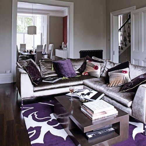 black and purple living room decor alfombras para living con pisos oscuros casa web 25176
