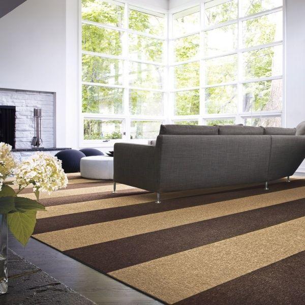 alfombra en tonos marrones