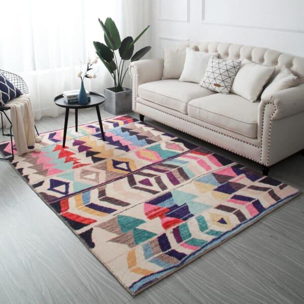 alfombras alegres para pisos oscuros