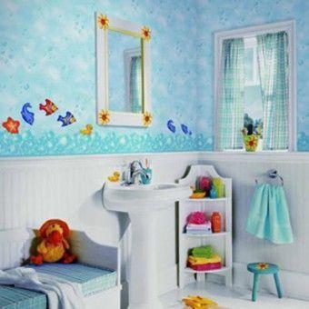 baño con vinilos infantiles