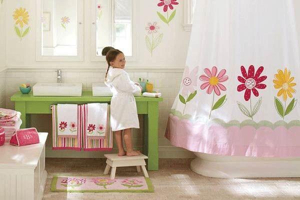 baños con flores para niñas