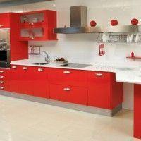 Cocinas en color rojo casa web for Cocina roja y negra
