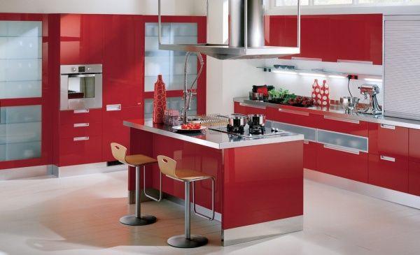 Cocinas En Color Rojo Casa Web - Cocinas-en-rojo