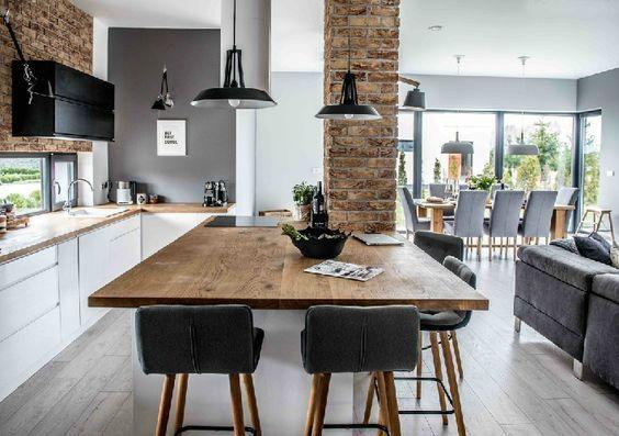 Integrar la cocina con livig comedor - Casa Web