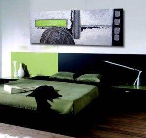 cuadro pintado con diseños modernos