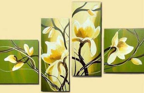 Cuadro verde con flores amarillas casa web - Fotos de cuadros modernos ...
