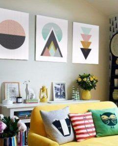 cuadros con imagenes geometricas