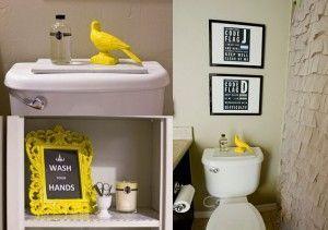 decoracion vintage de baño