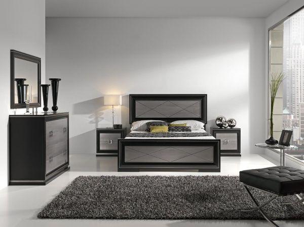 Dormitorio blanco y negro con tonos grises casa web for Cuarto negro con gris