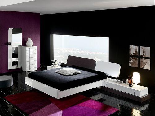 Negros Morado Y Dormitorio Blanco Casa En Con Detalles Web c3ARjL54q