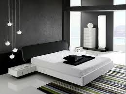 dormitorio minimalista blanco y negro