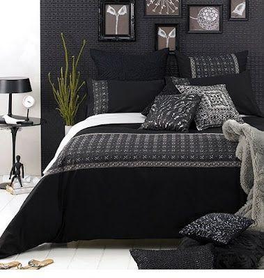 Dormitorio en blanco y negro casa web for Cuarto negro con gris