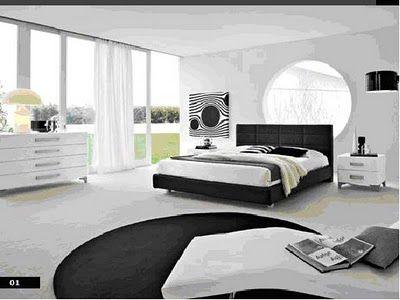 Dormitorio en blanco y negro casa web for Decoracion de recamaras modernas y minimalistas
