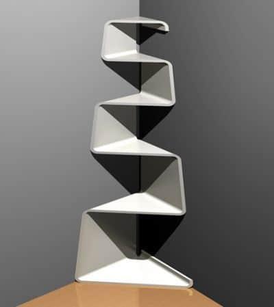 La estanteria como elemento decorativo casa web for Mesas para esquinas