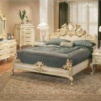 habitacion estilo clasico con muebles blancos