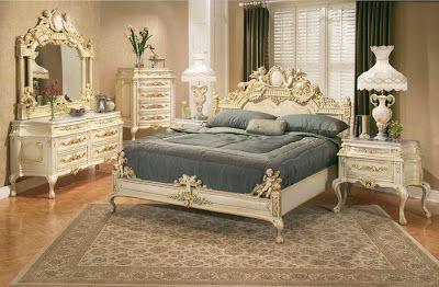 Habitacion estilo clasico con muebles blancos casa web for Muebles estilo clasico moderno