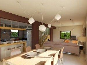 living comedor cocina modernos
