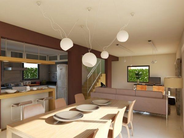 living comedor cocina modernos casa web