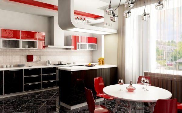 Muebles Cocina Color Rojo : Muebles de cocina negro y rojo casa web