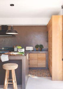 pared dde cocina de microcemento