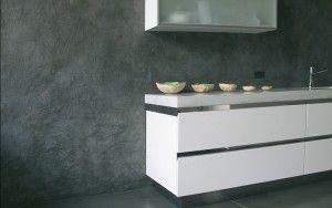 pared de microcemento texturado