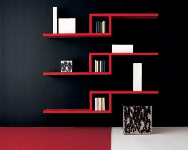 repisas modernas para salas minimalistas