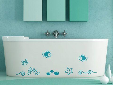 vinilos decorativos en bañadera