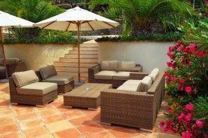 Mobiliario de lujo para el jardin
