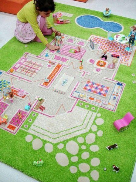 alfombra casa de muñecas
