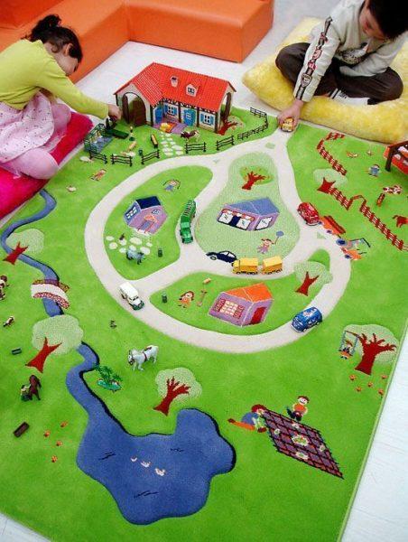 alfombra granja